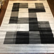 NEW MODERN BLOCK DESIGN RUGS GREY 180X240CM 8X6FT APPROX GREAT QUALITY MATS